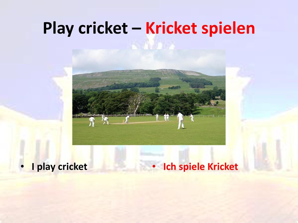 Play cricket – Kricket spielen