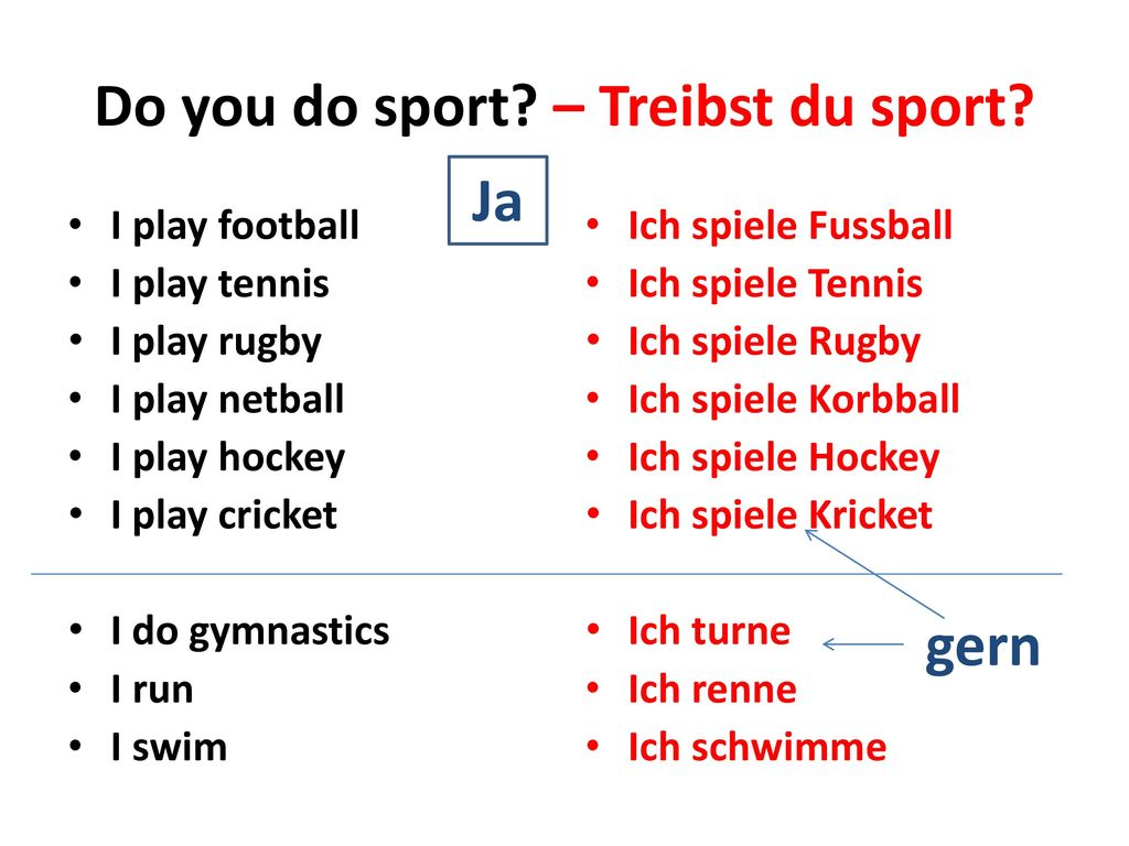 Do you do sport – Treibst du sport