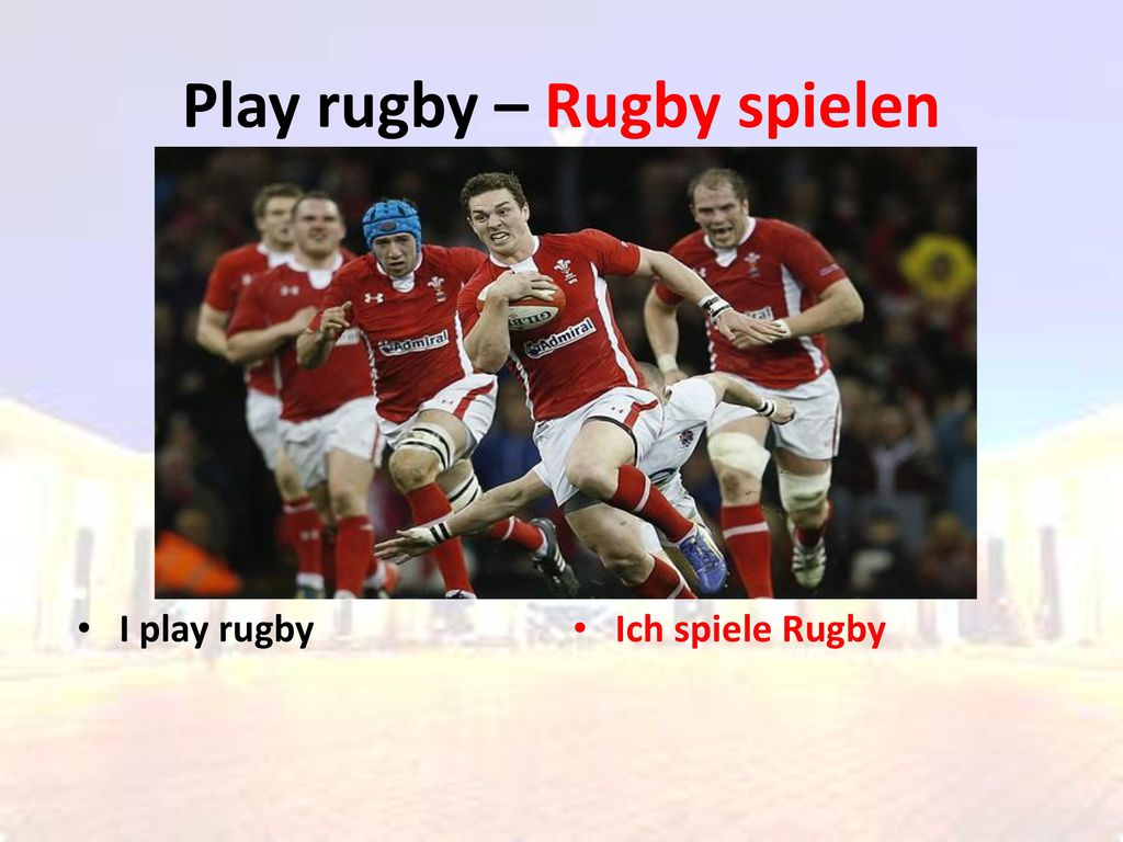 Play rugby – Rugby spielen