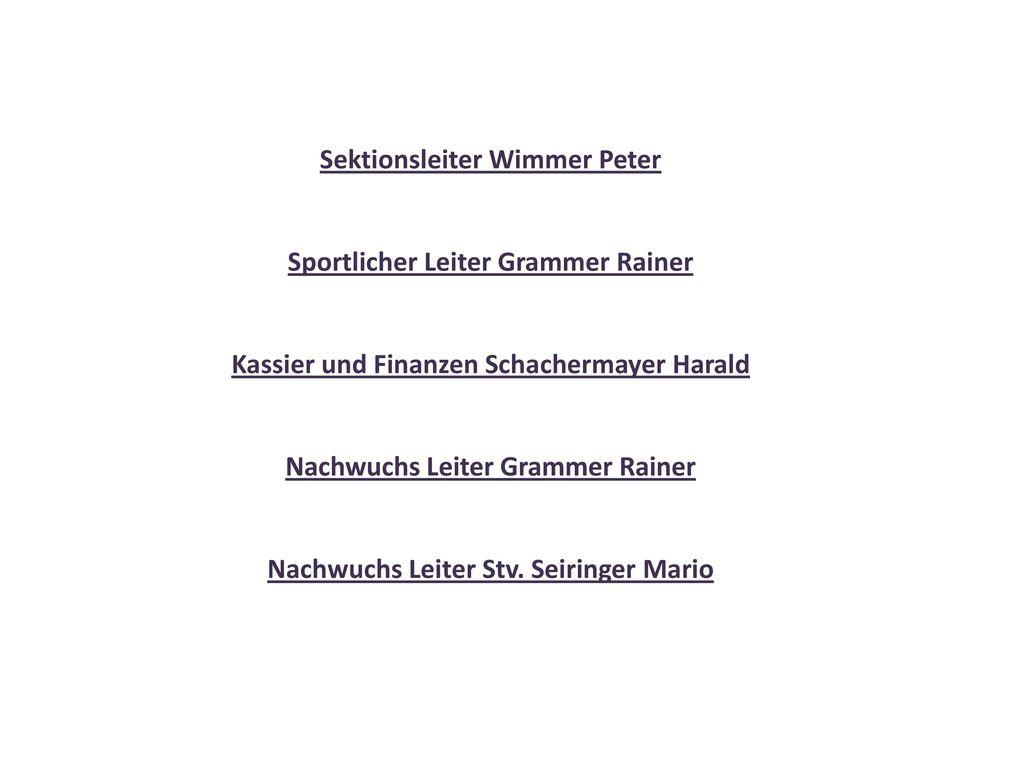 Sektionsleiter Wimmer Peter
