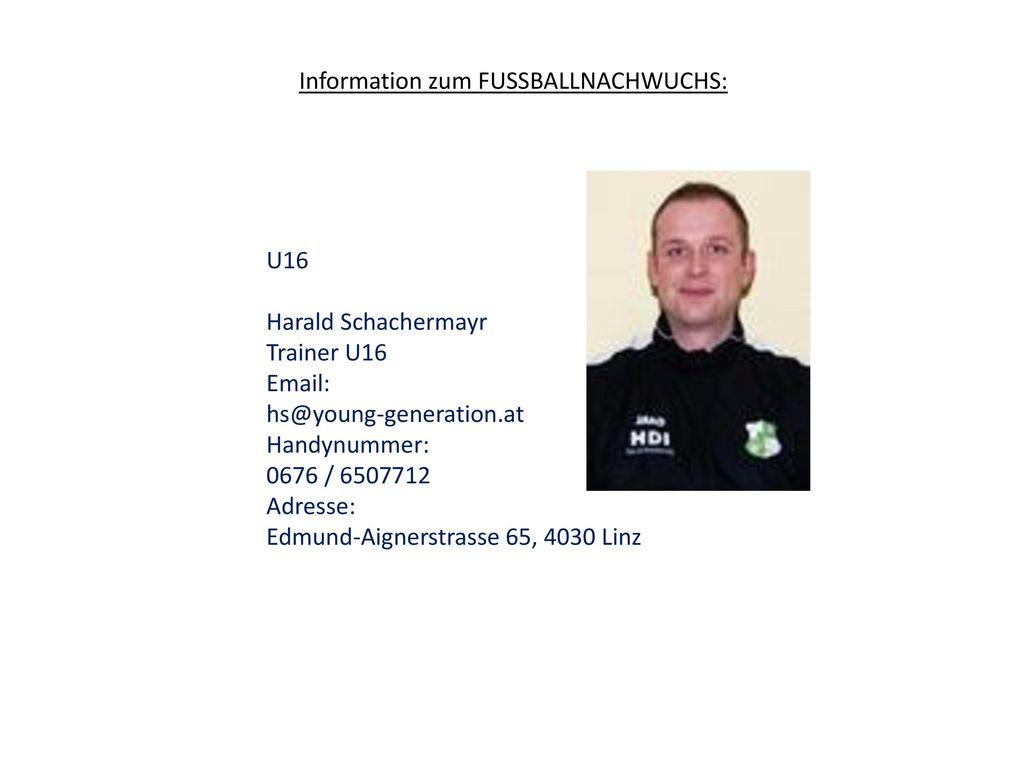 Information zum FUSSBALLNACHWUCHS: