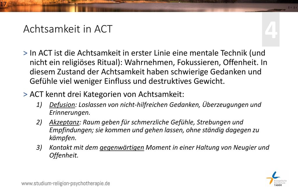 4 Achtsamkeit in ACT.