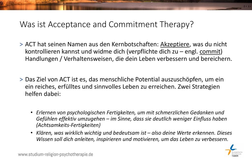 Was ist Acceptance and Commitment Therapy