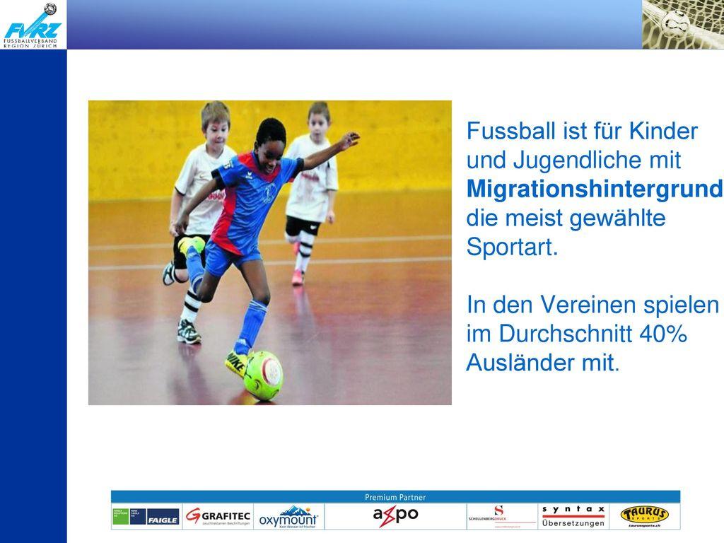 Fussball ist für Kinder und Jugendliche mit Migrationshintergrund die meist gewählte Sportart.