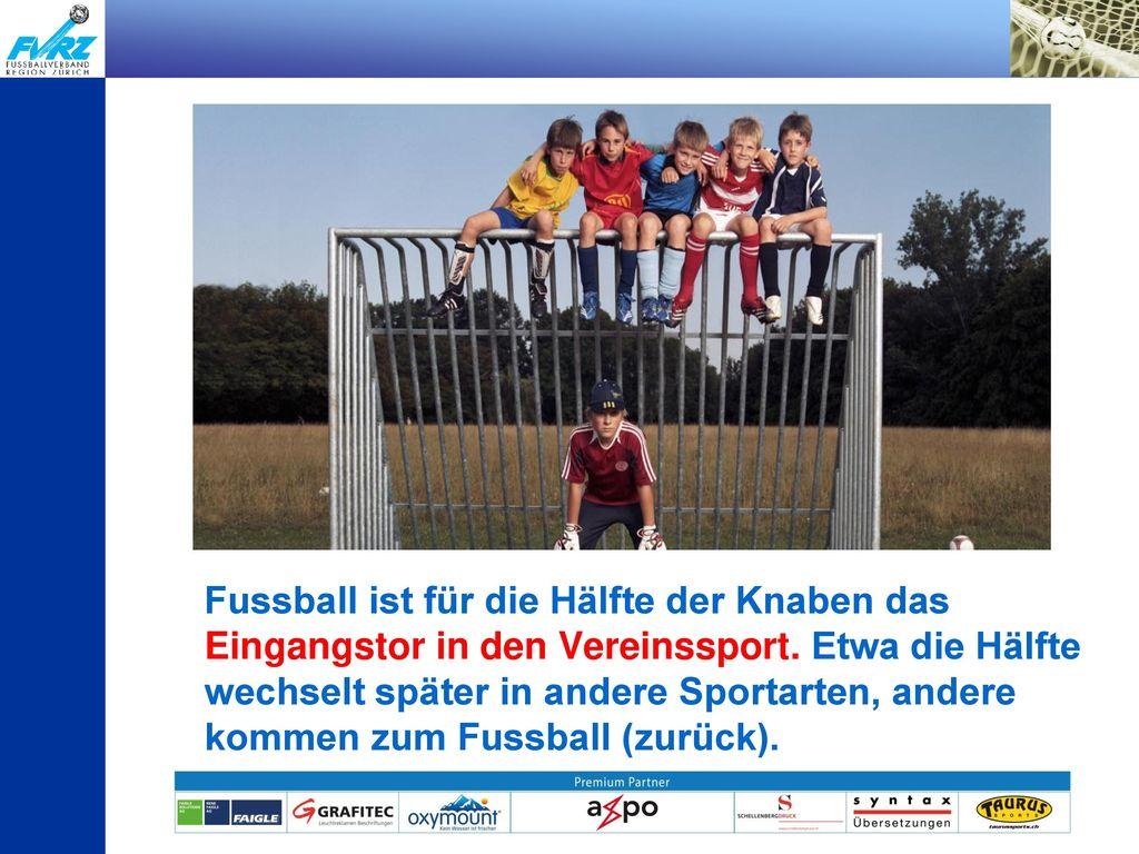 Fussball ist für die Hälfte der Knaben das Eingangstor in den Vereinssport.