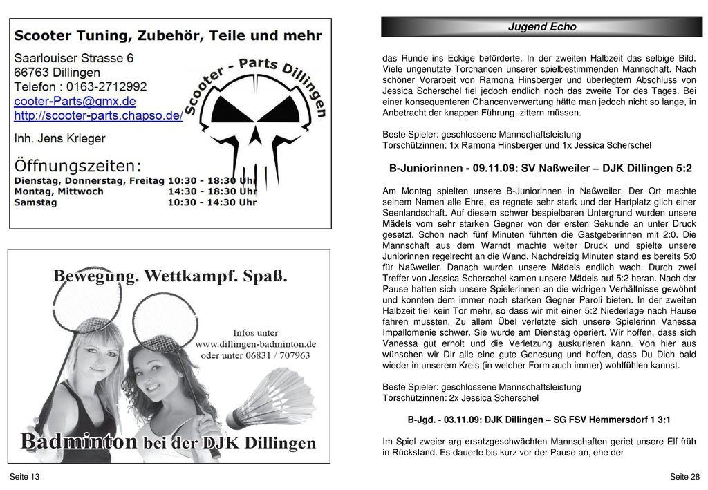 B-Jgd. - 03.11.09: DJK Dillingen – SG FSV Hemmersdorf 1 3:1