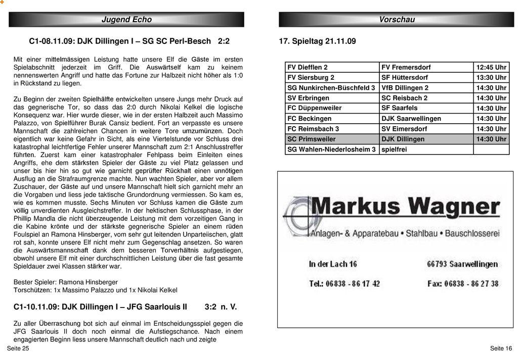 C1-08.11.09: DJK Dillingen I – SG SC Perl-Besch 2:2