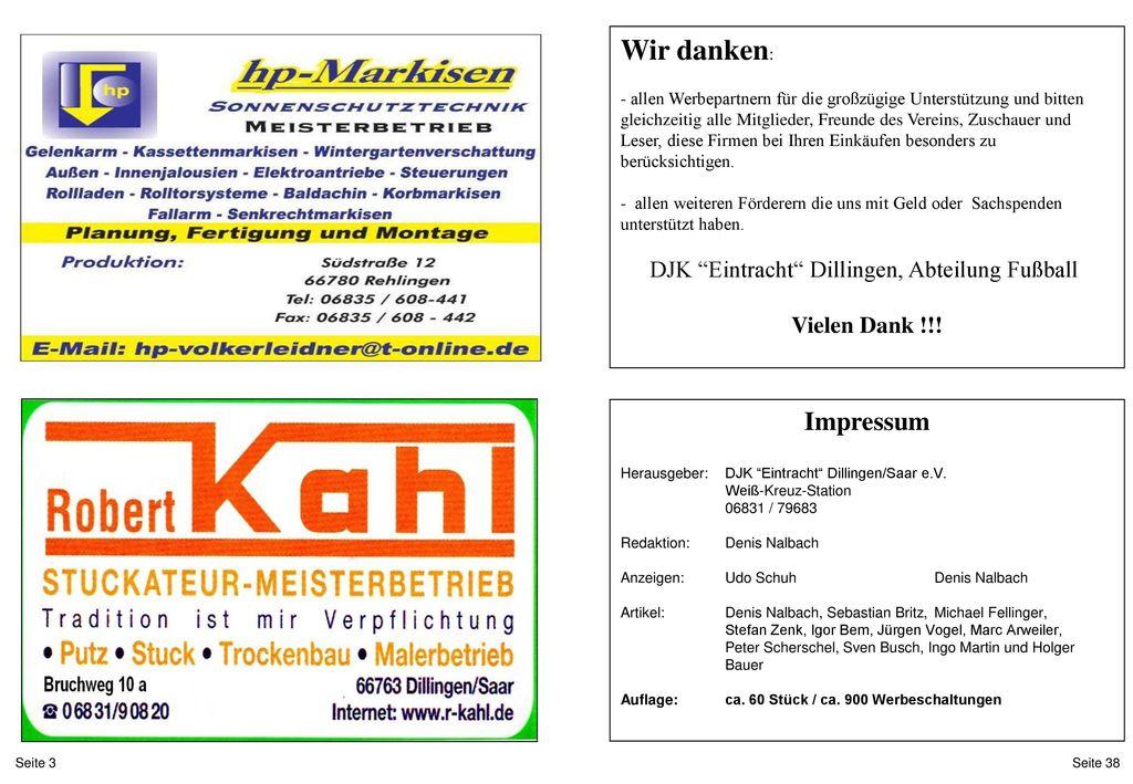 DJK Eintracht Dillingen, Abteilung Fußball