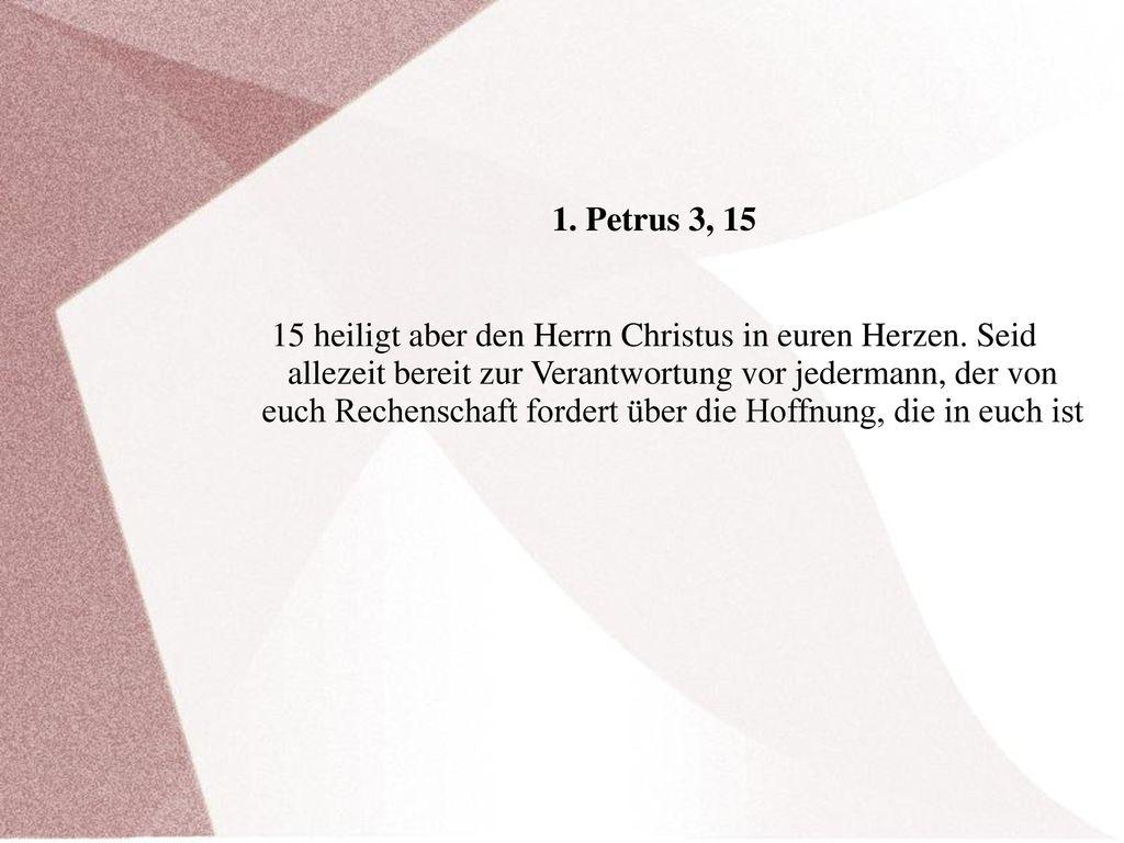 1. Petrus 3, 15