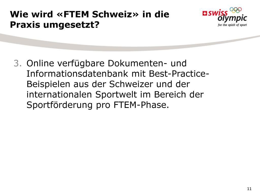 Wie wird «FTEM Schweiz» in die Praxis umgesetzt
