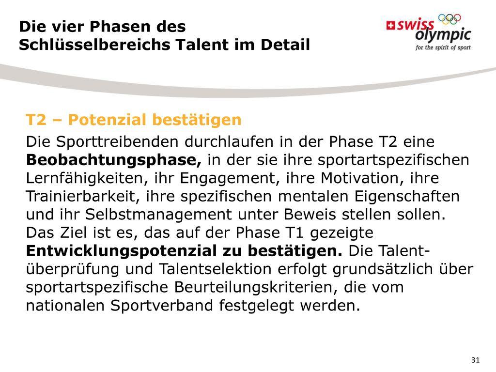 Die vier Phasen des Schlüsselbereichs Talent im Detail