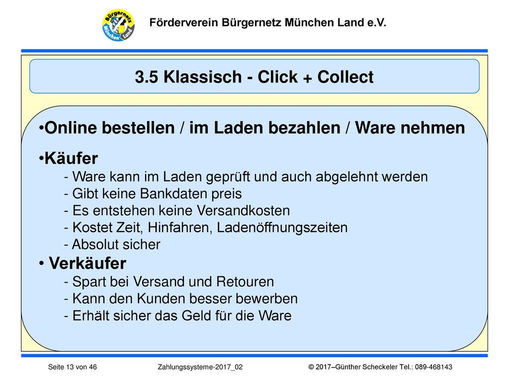 3.5 Klassisch - Click + Collect
