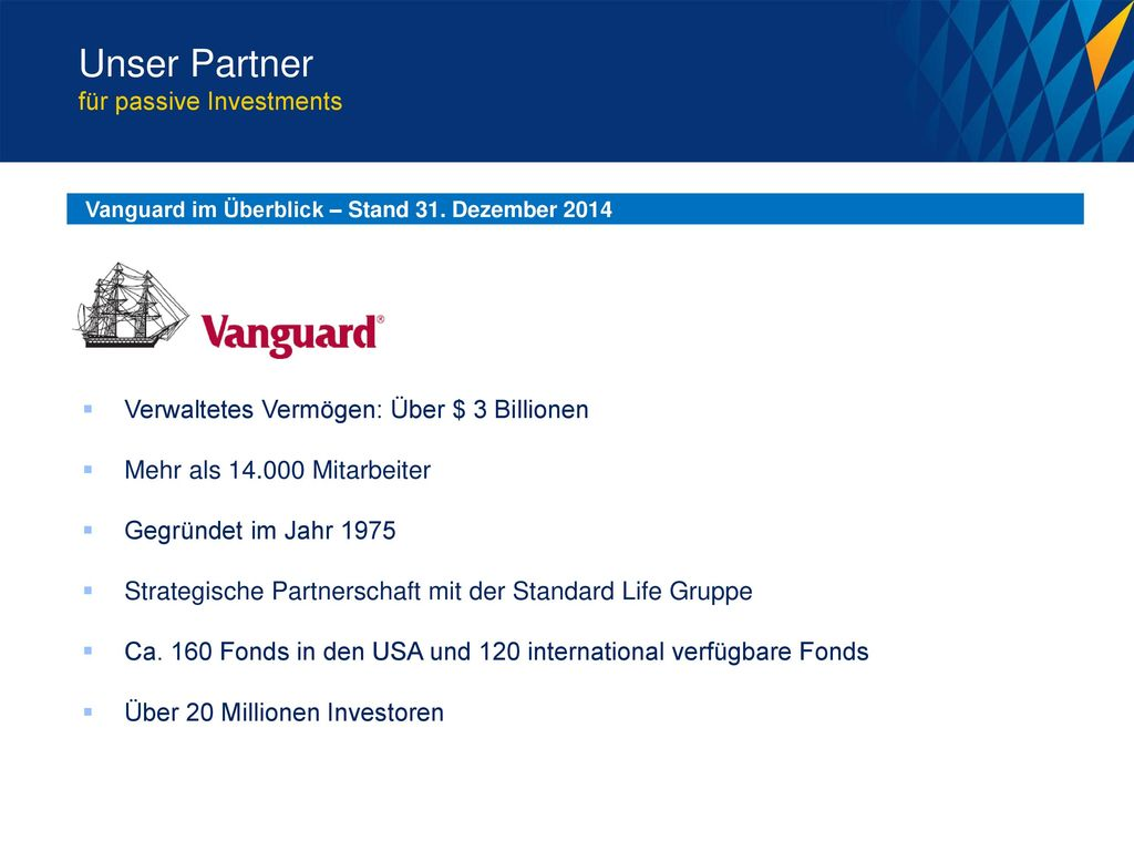 Unser Partner für passive Investments