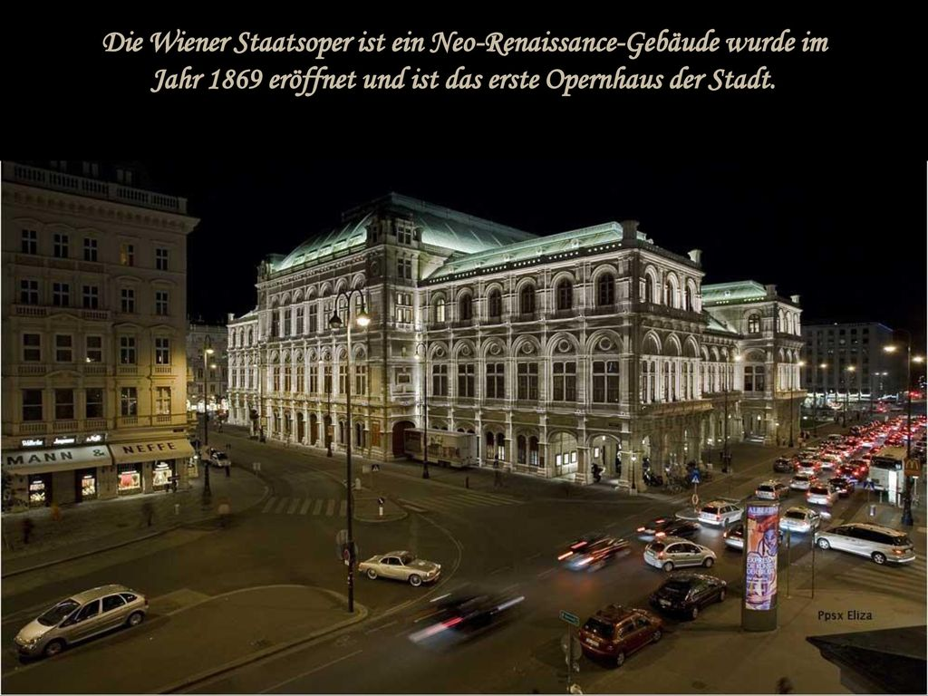 Die Wiener Staatsoper ist ein Neo-Renaissance-Gebäude wurde im Jahr 1869 eröffnet und ist das erste Opernhaus der Stadt.