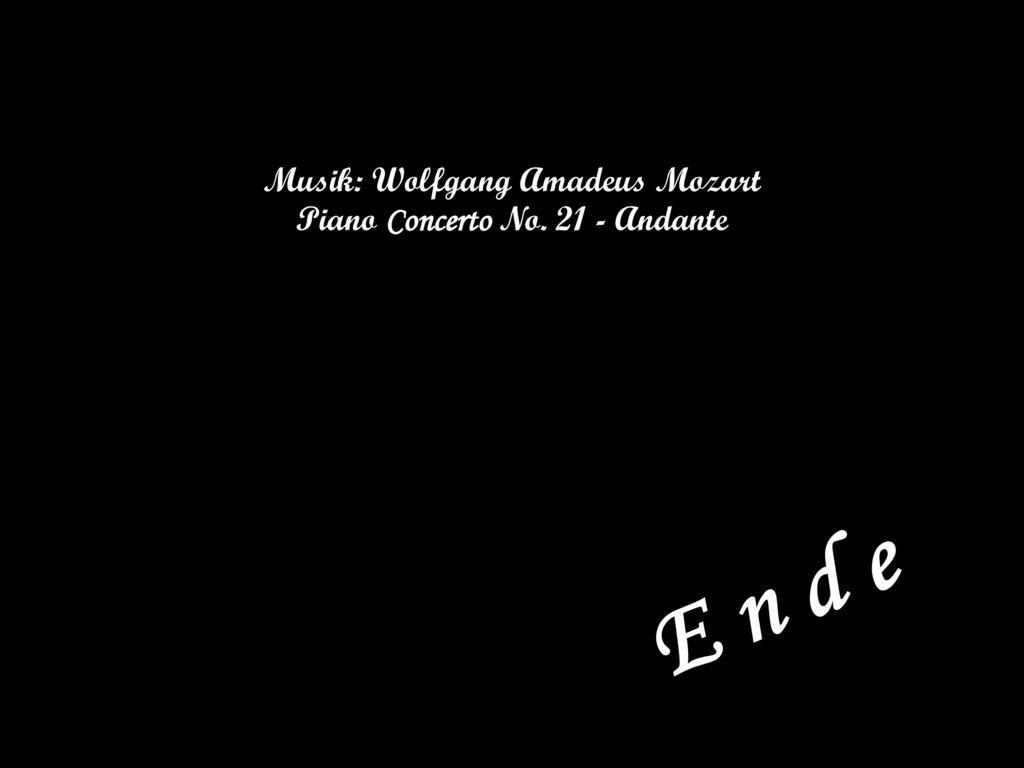 Musik: Wolfgang Amadeus Mozart Piano Concerto No. 21 - Andante