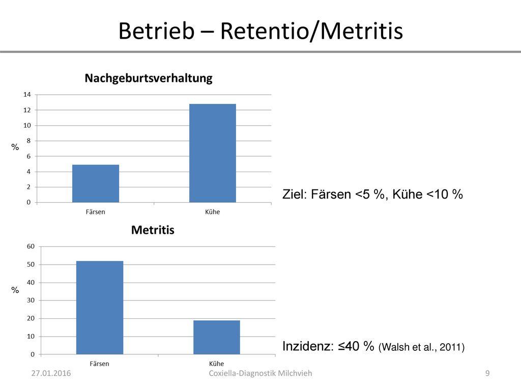 Betrieb – Retentio/Metritis