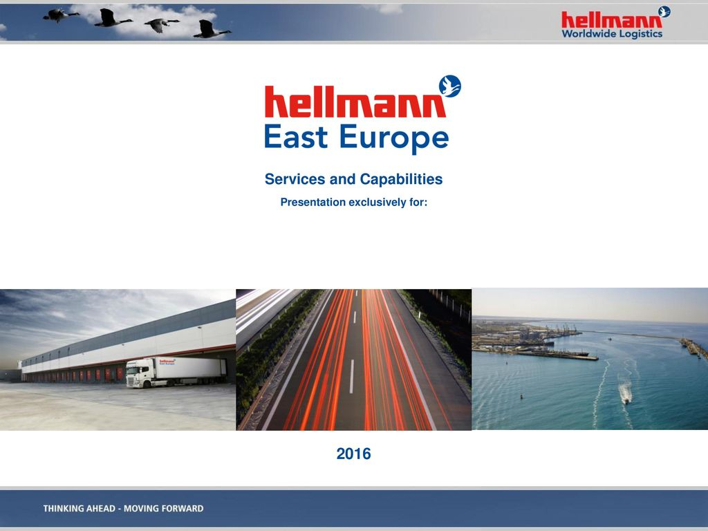 Services and Capabilities Presentation exclusively for: