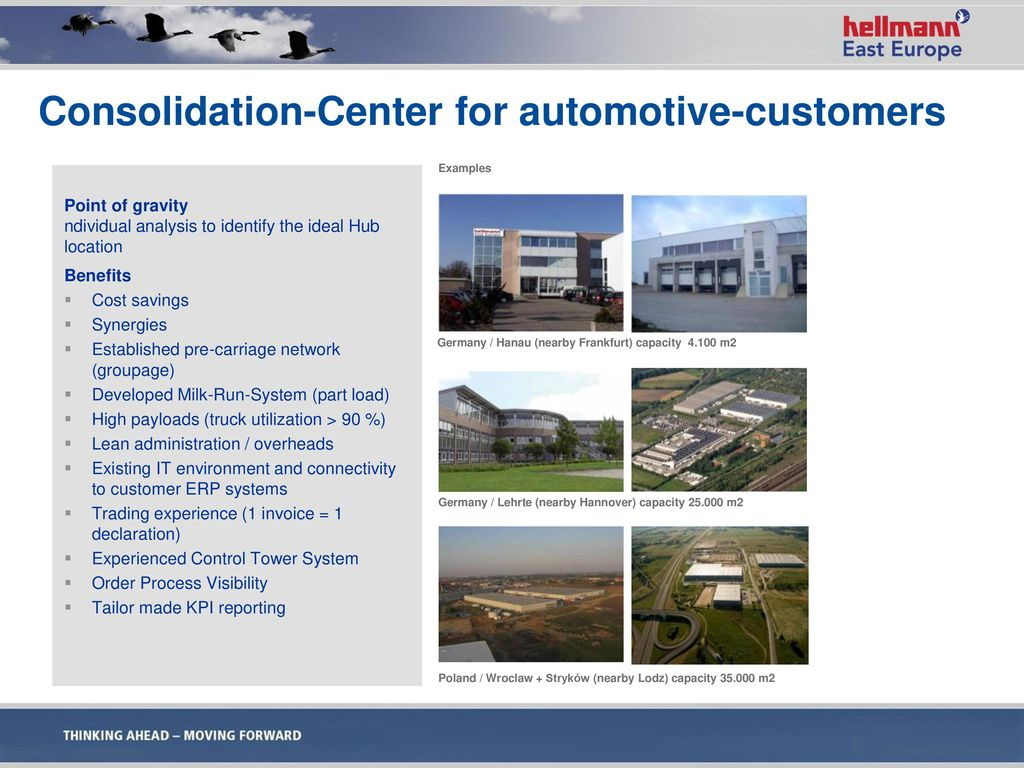 Consolidation-Center for automotive-customers