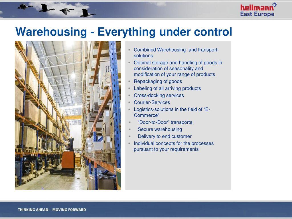 Warehousing - Everything under control