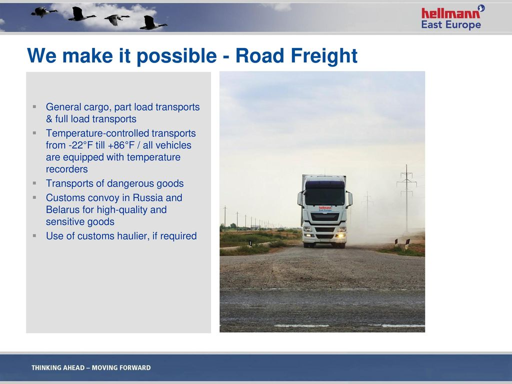 We make it possible - Road Freight