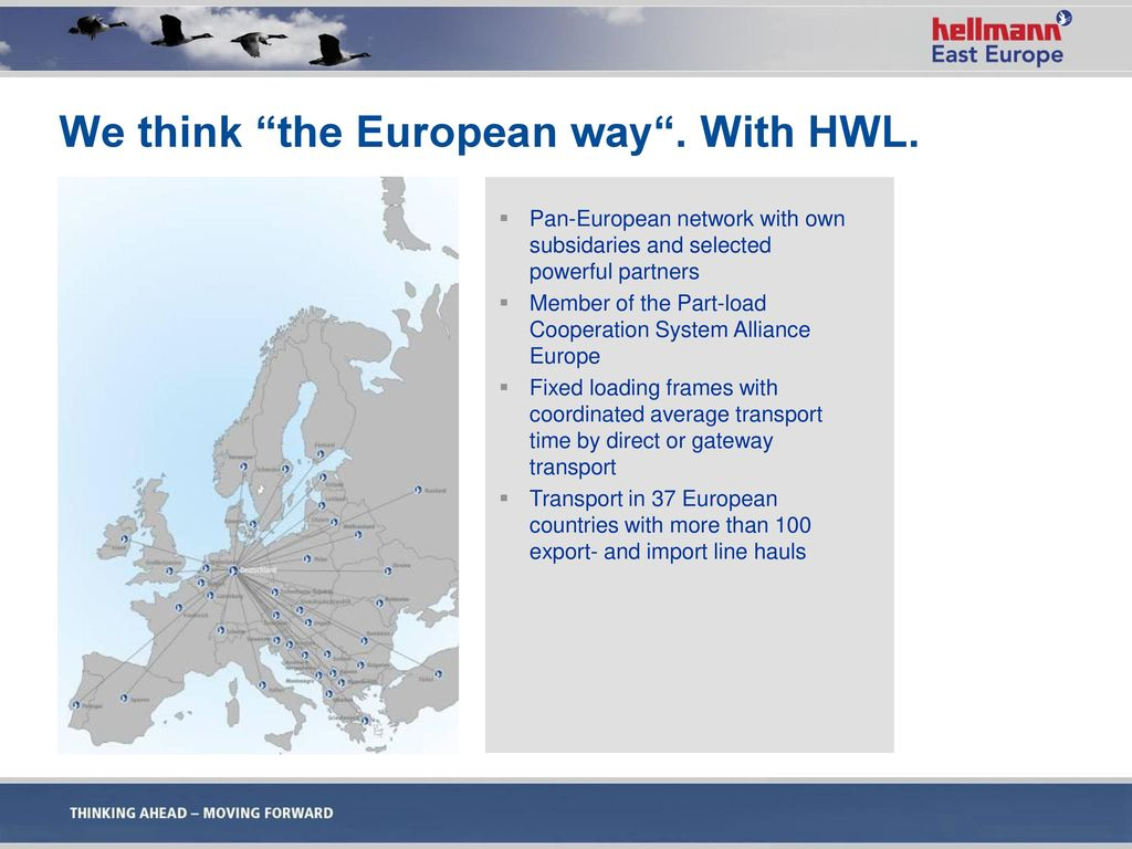 We think the European way . With HWL.