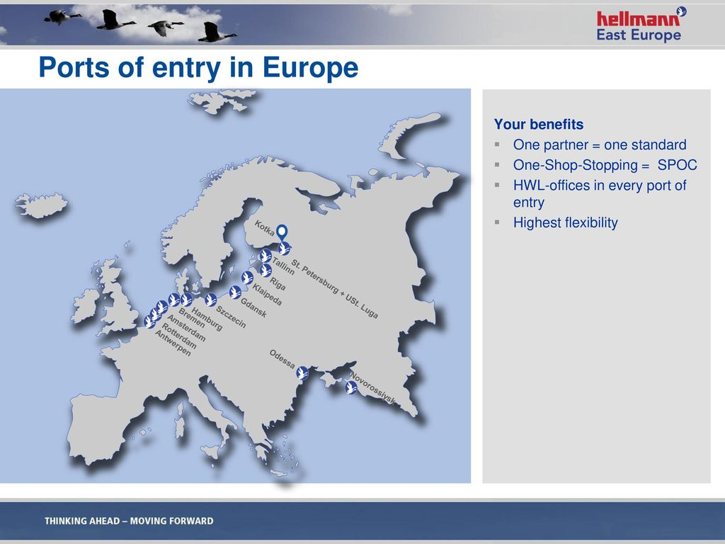 Ports of entry in Europe