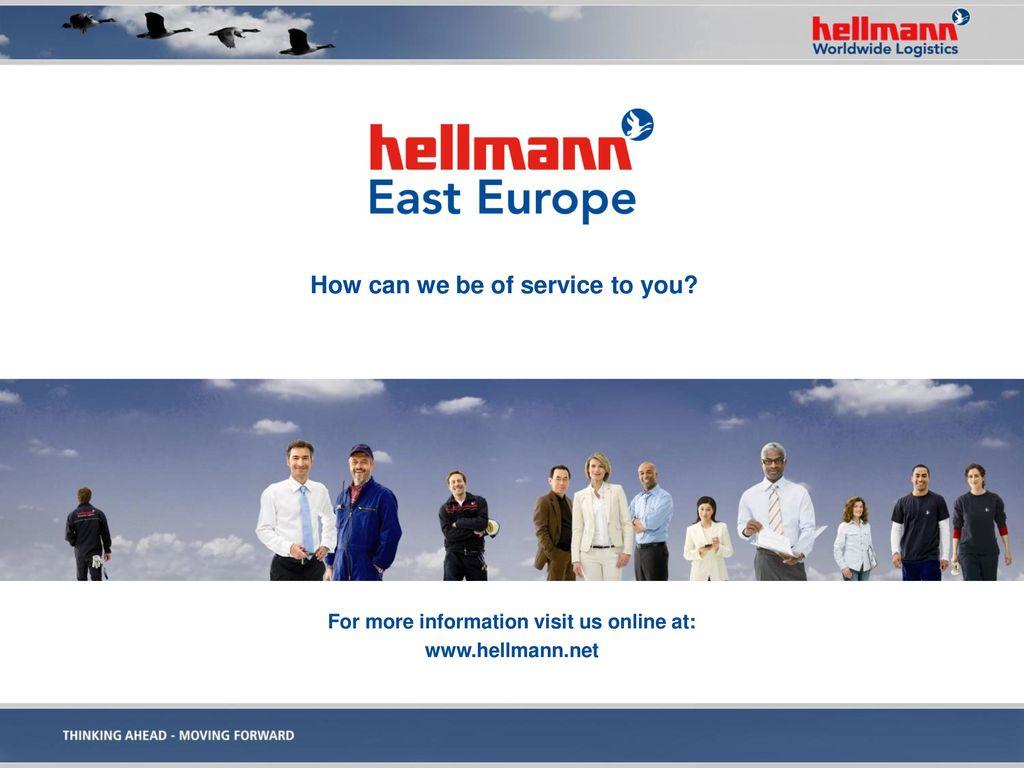 For more information visit us online at: www.hellmann.net
