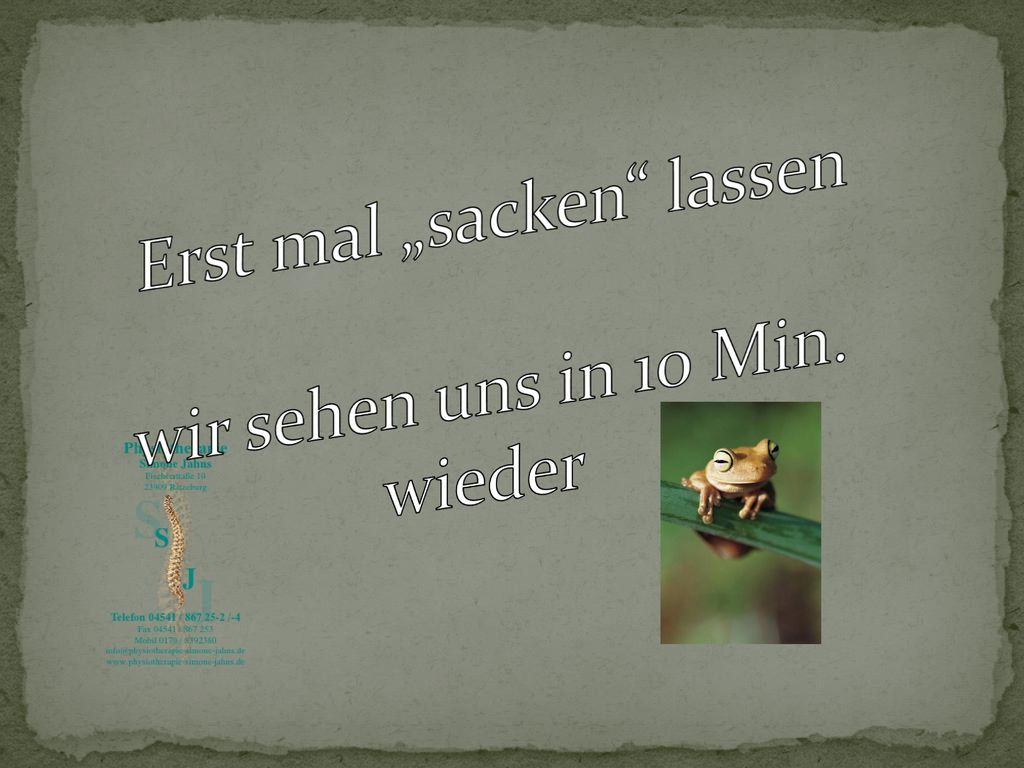"""Erst mal """"sacken lassen"""