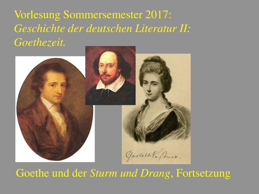 Vorlesung Sommersemester 2017: