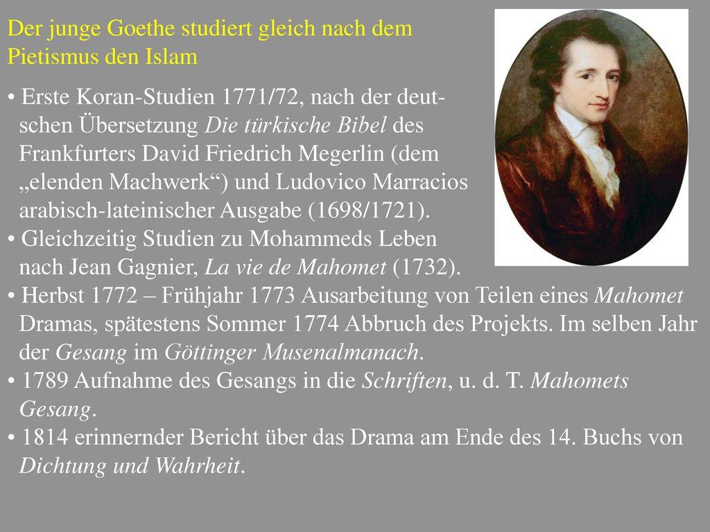 Der junge Goethe studiert gleich nach dem