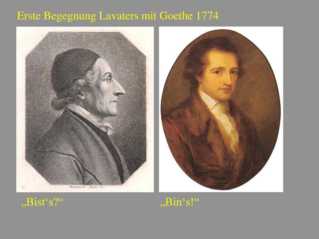 Erste Begegnung Lavaters mit Goethe 1774