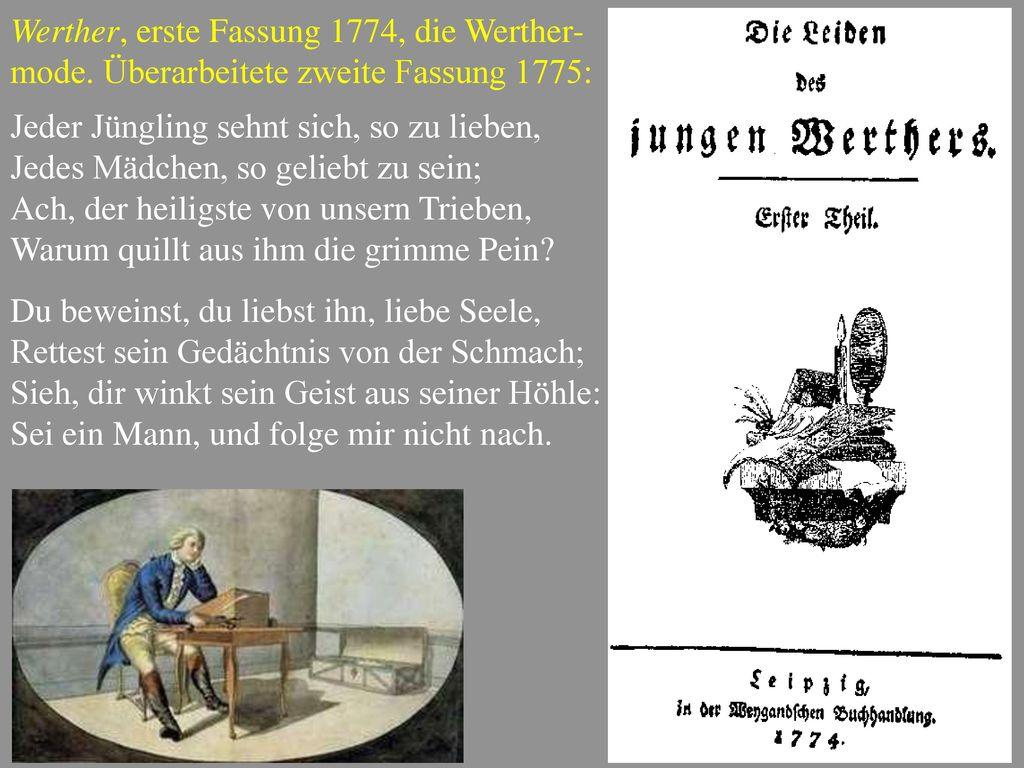 Werther, erste Fassung 1774, die Werther-mode