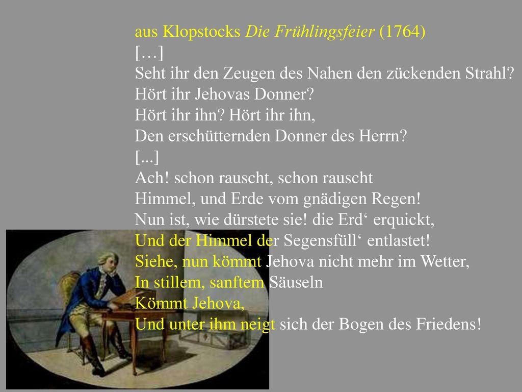 aus Klopstocks Die Frühlingsfeier (1764)