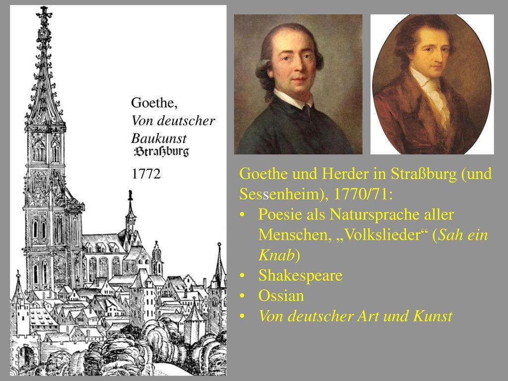 Goethe und Herder in Straßburg (und Sessenheim), 1770/71: