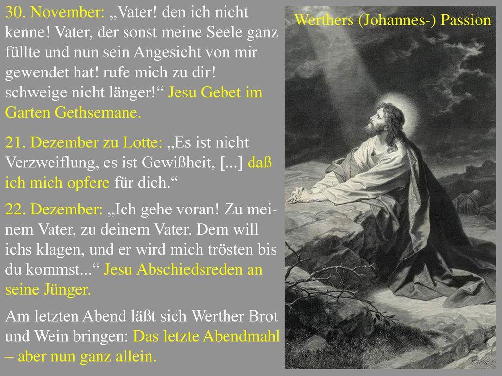 """30. November: """"Vater. den ich nicht kenne"""