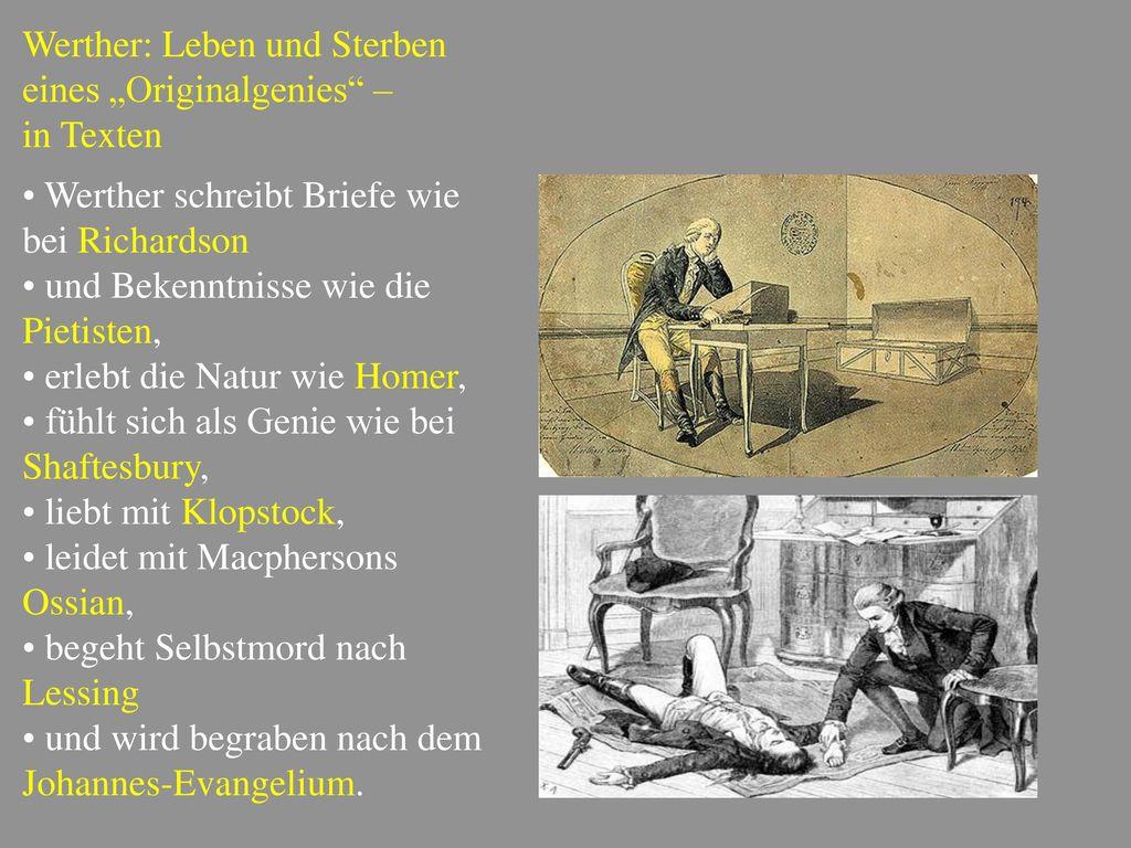 """Werther: Leben und Sterben eines """"Originalgenies –"""