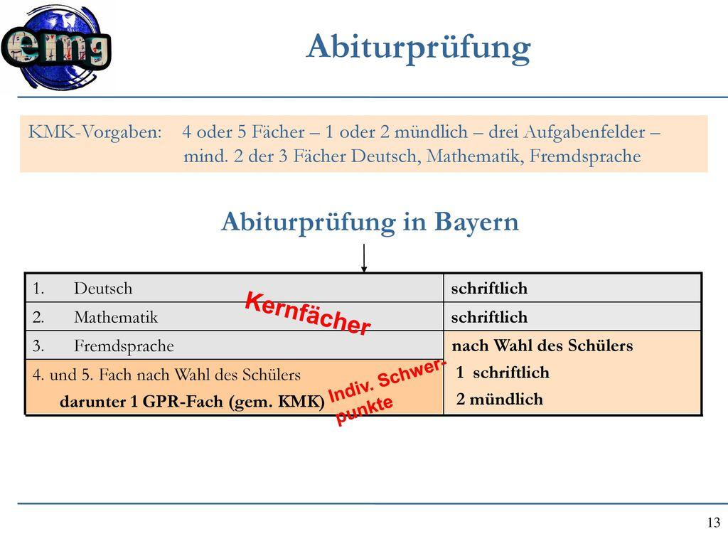 Abiturprüfung in Bayern