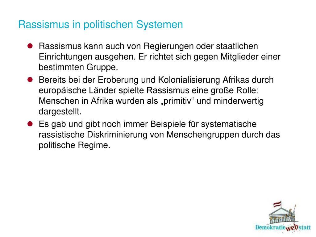 Rassismus in politischen Systemen