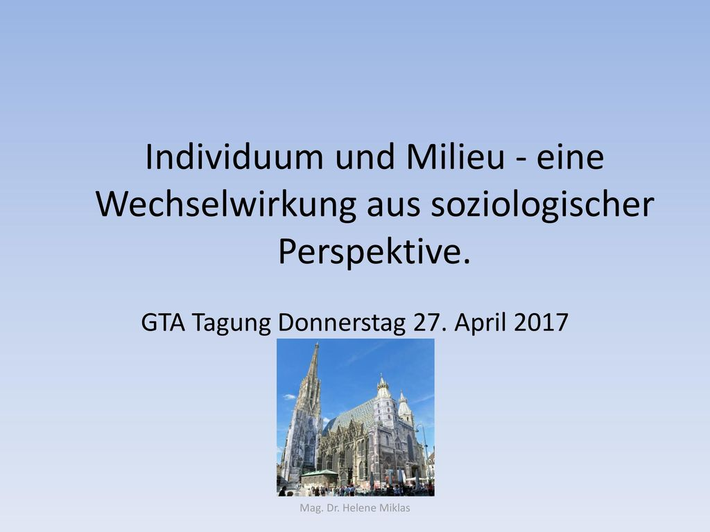 GTA Tagung Donnerstag 27. April 2017