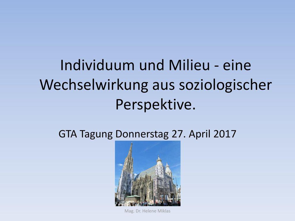 GTA Tagung Donnerstag 27. April 2017