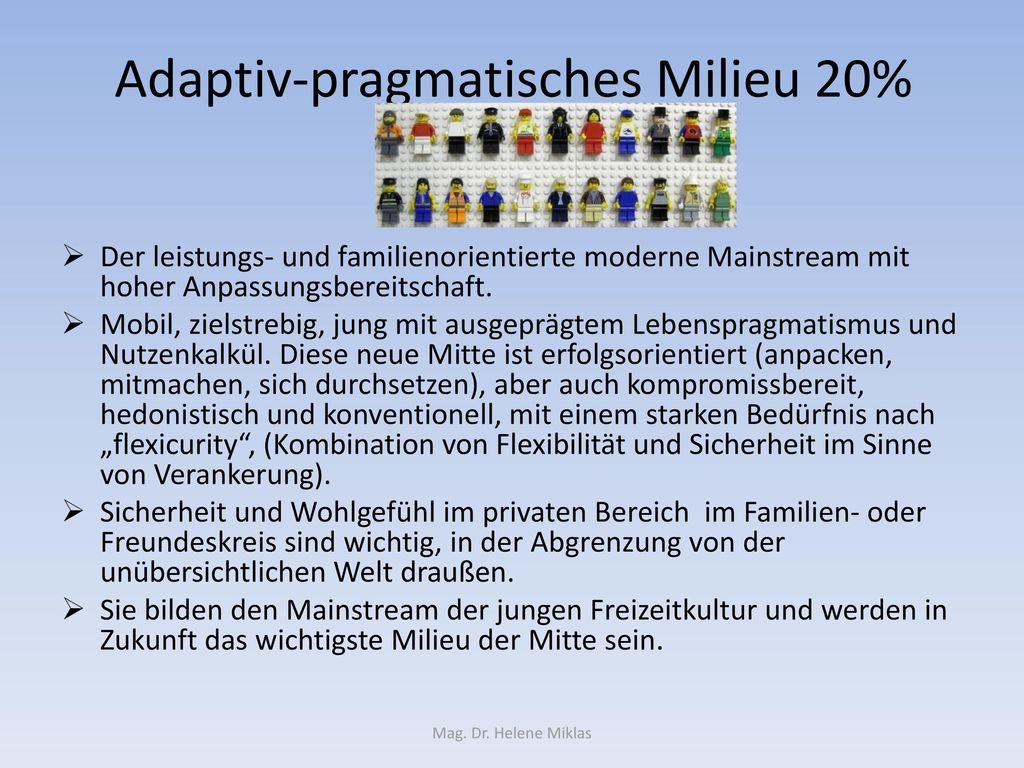 Adaptiv-pragmatisches Milieu 20%