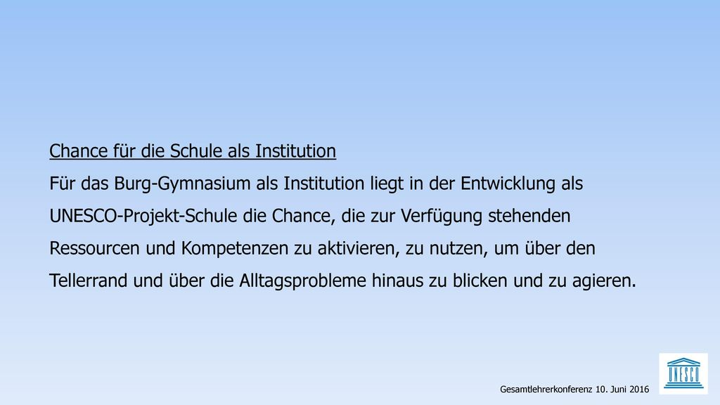 Chance für die Schule als Institution