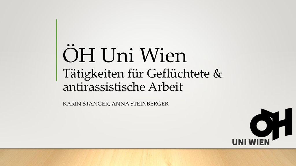 ÖH Uni Wien Tätigkeiten für Geflüchtete & antirassistische Arbeit