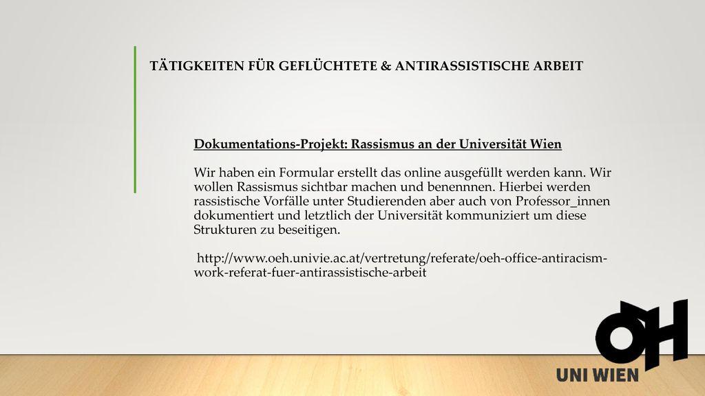 Tätigkeiten für Geflüchtete & antirassistische Arbeit