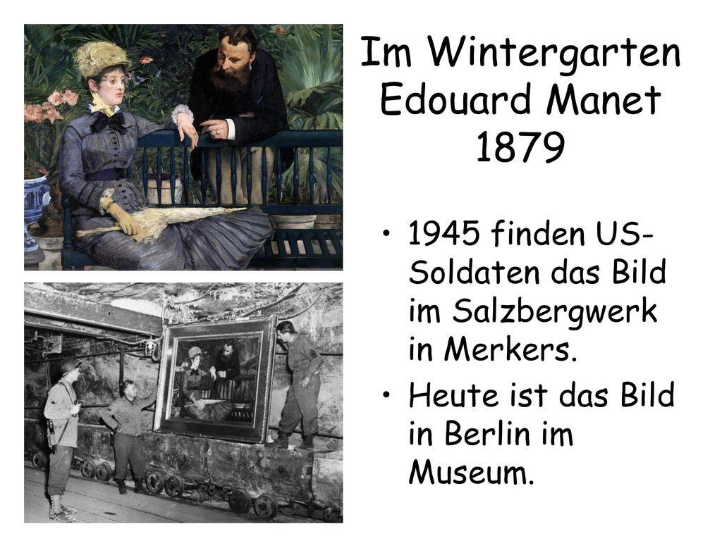 Im Wintergarten Edouard Manet 1879