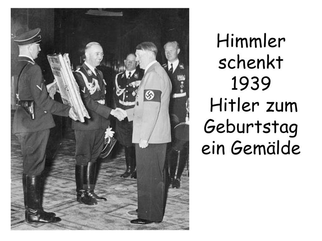 Himmler schenkt 1939 Hitler zum Geburtstag ein Gemälde