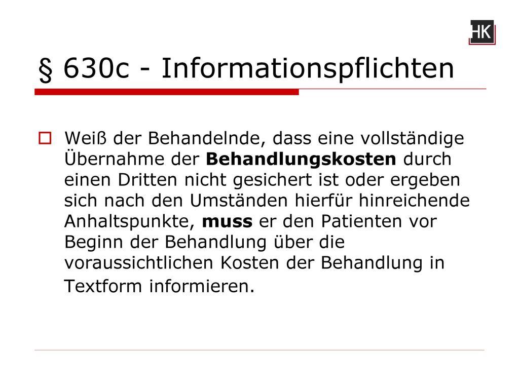§ 630c - Informationspflichten
