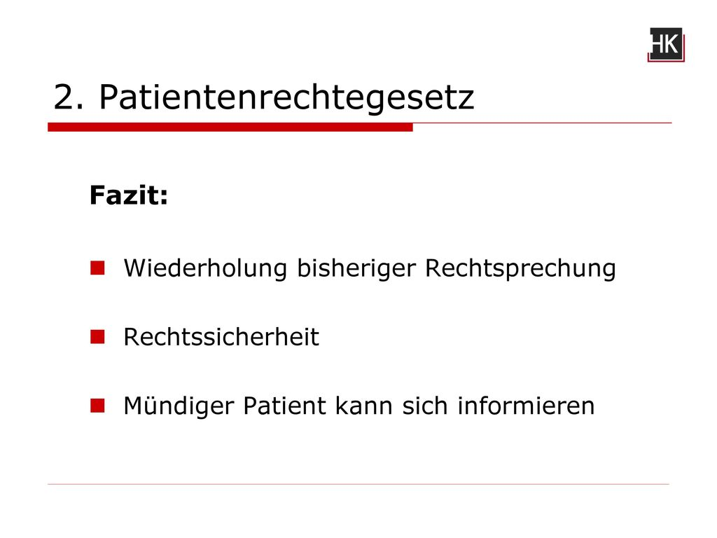 2. Patientenrechtegesetz