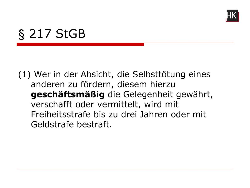 § 217 StGB