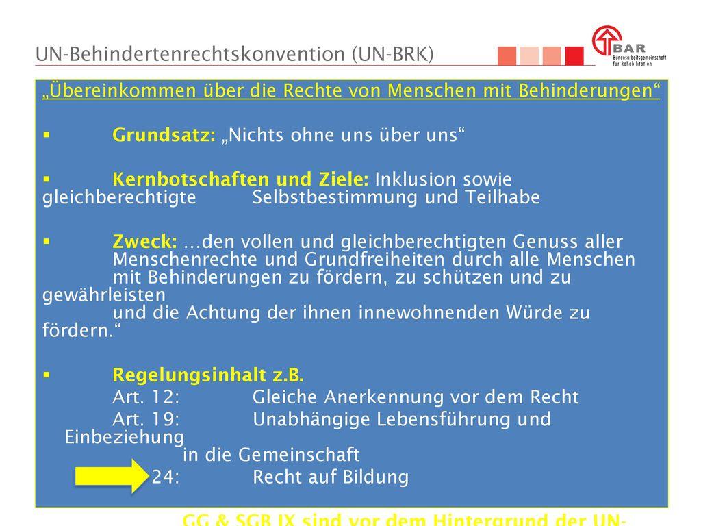 UN-Behindertenrechtskonvention (UN-BRK)